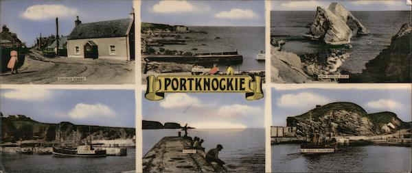 Six Color Photographs Of Portknockie In Moray Scotland