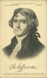 Thomas Jefferson Third President of the United States. Born April 13, 1743. Died July 4, 1826
