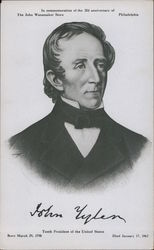 John Tyler Tenth President of the United States. Born March 29, 1790 Died January 17, 1862