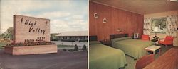 High Valley Motel Wilmington, NY Large Format Postcard