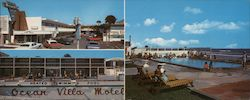 """Brand New"" The Ocean Villa Motel Directly on ""The World's Most Famous Beach"" Large Format Postcard"