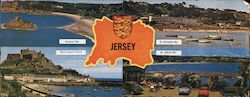 Multi View of Jersey, Channel Islands Large Format Postcard