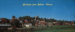 Greetings from Galena, Illinois Large Format Postcard
