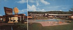 Holiday Motel Large Format Postcard