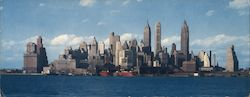 Lower Manhattan From Governors Island Large Format Postcard