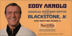 Eddy Arnold plus Magical Mystery Revue starring Blackstone, Jr., Harrah's Lake Tahoe Large Format Postcard