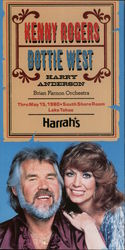 Kenny Rogers Dottie West Harry Anderson Brian Farnon Orchestra Thru May, 1980 South Shore Room Lake Tahoe Harrah's