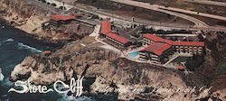 "Shore Cliff Loge & Inn ""Your Complete Resort at the Beach"" Large Format Postcard"