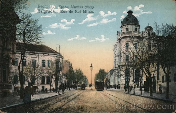 Belgrade, Rue de roi Milan Serbia Eastern Europe
