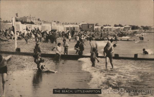 Bathers at the Beach Littlehampton England Sussex
