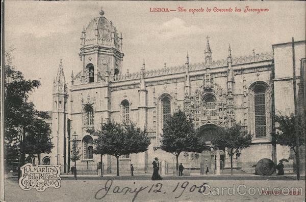 Lisboa - Um aspecto do convento dos Teronymos Lisbon Portugal
