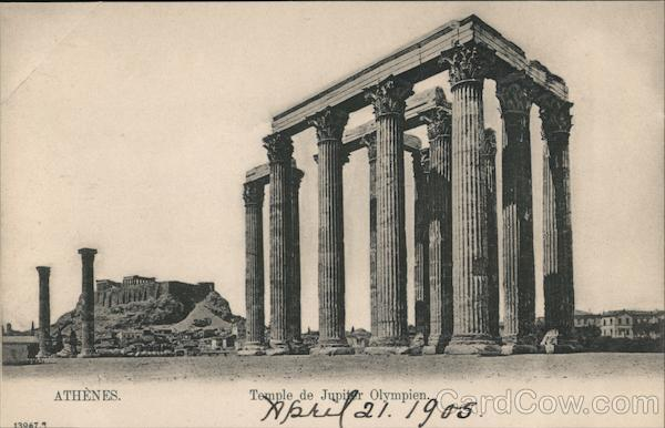 Athenes - Temple de Jupiter Olympien Athens Greece