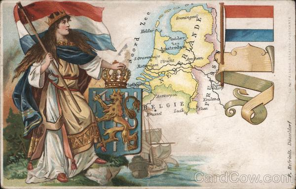 Map of Netherland Netherlands