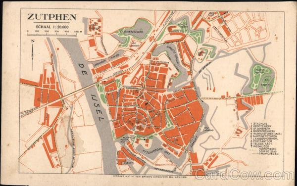 Map of Zutphen Netherlands
