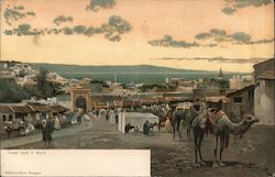 Street Scene with Camels, Strait of Gibraltar