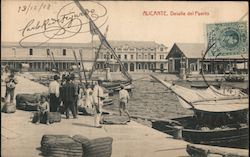 The Port of Alicante Postcard