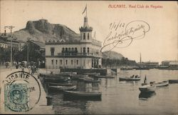 ALICANTE. Real club de Regatas Postcard