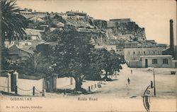 Looking Along Rosia Road Postcard