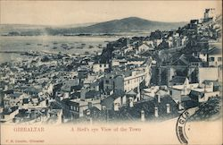 Gibraltar. A bird's eye view of the town Postcard