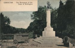 Gibraltar, The Monument of the Duke of Wellington Postcard