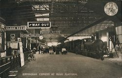 Birmingham Express at Platform Postcard