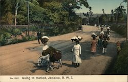 Going to Market, Jamaica, B.W.I.
