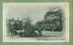 View across Tennis Lawn. Port Sunlight