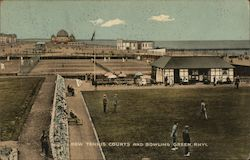 New Tennis Courts and Bowling Green Postcard