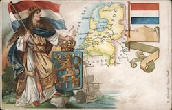Map of Netherland Postcard