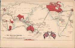 The British Empire, Showing The All-British Cable Round The World