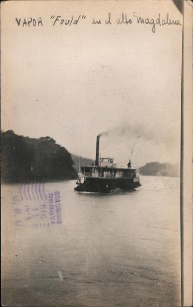 Steamboat Fould on River Colombia South America