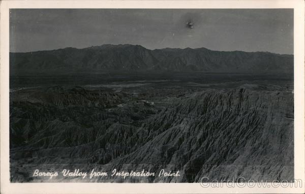 Borego Valley From Inspiration Point Borrego Springs California