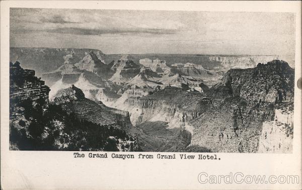 Canyon from Grand View Hotel Grand Canyon National Park Arizona