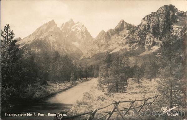 Tetons from Nat'l Park Road Wyoming Grand Teton National Park