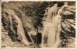 Soco Falls, Cherokee Indian Reservation Postcard