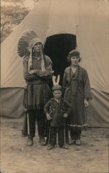 Posing as Outside Teepee, 1920 Tricentennial