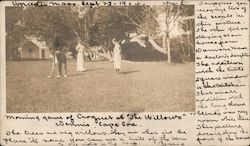 "Morning Game of Croquet at ""The Willows"" Postcard"