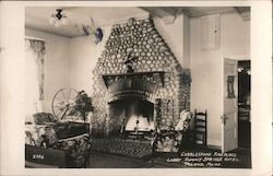 Cobblestone Fireplace, Lobby, Summit Springs Hotel Postcard