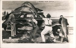 Loading Our Catch Postcard