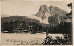 Mt. Burgess and Chalet, Emerald Lake Postcard