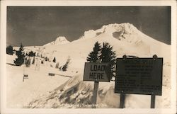 Timberline Ski Lift on Mt. Hood Postcard