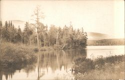 Bald Mountain from Heald Pond Dam, Heald Pond Camps Postcard