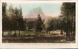 Mt. Eisenhower Near Johnson's Canyon Postcard