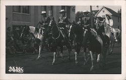 Men on Horses in Parade Postcard