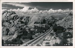U.S. 80 Through Granite Dells Postcard