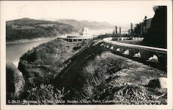 Approach to the Vista House, Crown Point, Columbia River Highway
