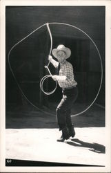 A Cowboy Using a Lasso