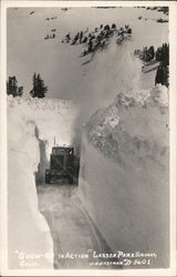 """Snow-Go in Action"" Lassen Park Highway Postcard"