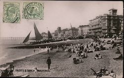 Yachts & Beach Postcard