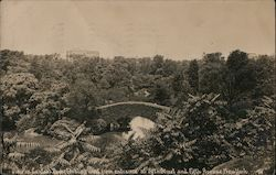 Gapstow Bridge -Central Park West from Entrance at 59th Street and 5th Avenue Postcard